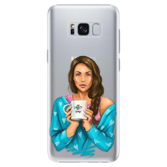 iSaprio Plastový kryt - Coffe Now - Brunette pro Samsung Galaxy S8+