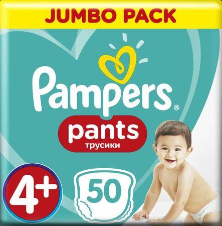 Pampers pieluchomajtki Pants Maxi+ rozm. 4+ (50 szt) - pieluchomajtki (9-15 kg) – Jumbo Pack