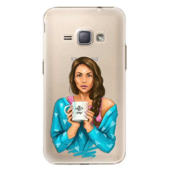 iSaprio Plastový kryt - Coffe Now - Brunette pro Samsung Galaxy J1 2016