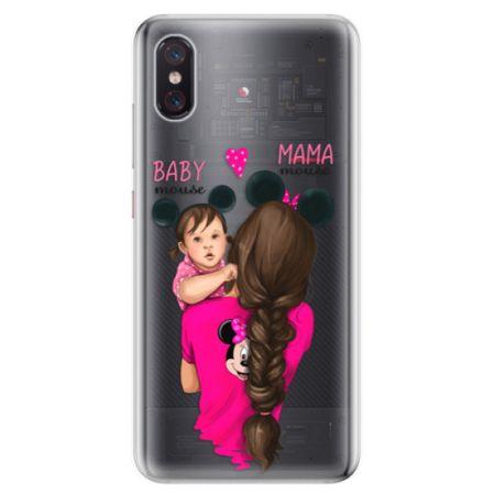 iSaprio Silikonové pouzdro - Mama Mouse Brunette and Girl pro Xiaomi Mi 8 Pro