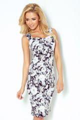 Numoco Šaty bez rukávů s výstřihem na zádech - černobílé květy