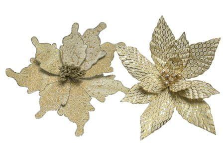 Kaemingk zestaw ozdób świątecznych, ok. 29 cm, złoty, 2 rodzaje, 2 szt.