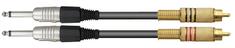 Dexon  Signálový kabel 2x Cinch (RCA) / 2x Jack 6,3