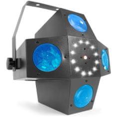 BeamZ  LED Multitrix, 20x1W RGBWA + 12xSMD LED + 225mW RG laser, světelný efekt