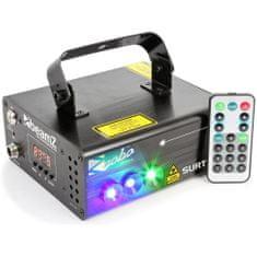 BeamZ  Laser Surtur II Double RG Gobo 300mW, 1x 3W modrá LED, DMX, DO