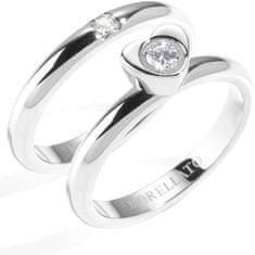 Morellato Oceľový prsteň Love Rings SNA35
