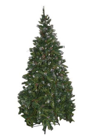 DUE ESSE Vánoční borovice Rustico 180 cm, bobule a šišky