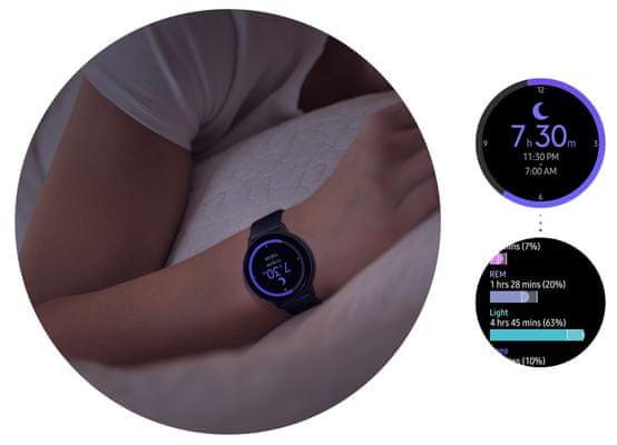 Samsung Galaxy Watch Active2, monitorovanie spánku, meranie stresu, relaxačné dychové cvičenia