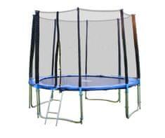 Goodjump 4UPE modrá trampolína 305 cm s ochrannou sítí + žebřík + krycí plachta