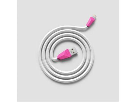 REMAX Datový kabel ALIEN, lighting, 1 m dlouhý, barva bílorůžová, AA-1140