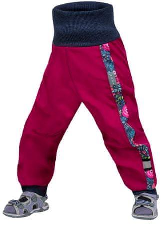 Unuo dívčí softshellové kalhoty STREET 74 - 80 růžová