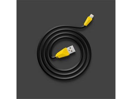 REMAX Datový kabel ALIEN, lighting, 1 m dlouhý, barva černožlutá, AA-1141
