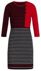 Smashed Lemon Dámske šaty 19678 Black / Red