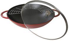 Staub wok se skleněnou poklicí 37cm