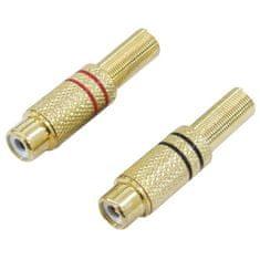 Omnitronic Cinch zásuvka Gold 5,4mm, pár