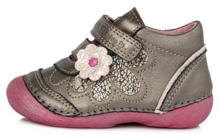D-D-step dívčí celoroční obuv 015-181B 20 šedá