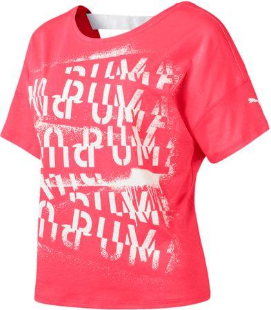 Puma Hit Feel It Tee Pink Alert L