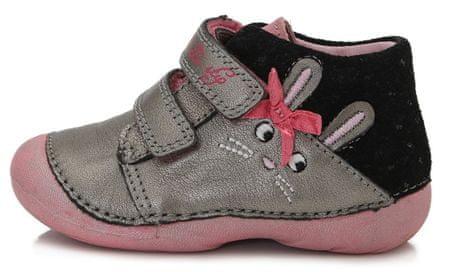 D-D-step dievčenská celoročná obuv 015-179 19 sivá