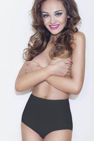 Mitex Női alakformáló fehérnemű Iga plus black + Nőin zokni Gatta Calzino Strech, fekete, 3 XL