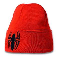 Spiderman Zimní dětská čepice Spiderman - Logo, červená