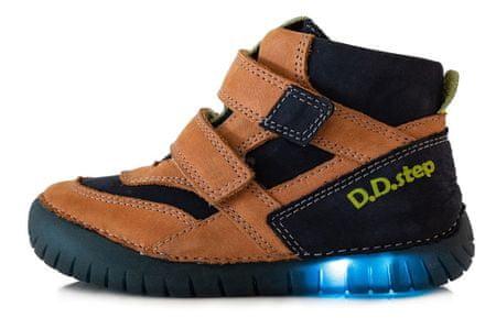 D-D-step chlapčenská celoročná obuv 050-6A 26 hnedá