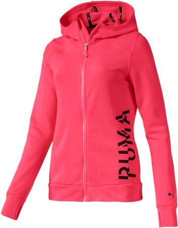 Puma Logo Sweat Jacket Pink Alert ženska jopa, S
