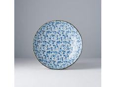 MIJ Plytká misa Blue Daisy 21 cm 600 ml