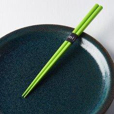 MIJ Lakované jídelní hůlky Chopsticks zelené