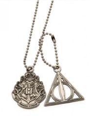 Harry Potter Řetízek na krk Relikvie smrti a Bradavice