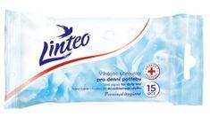LINTEO Vlhčené ubrousky s antibakteriální přísadou 15 ks, 1-vrstvé