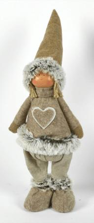 DUE ESSE okrasna stoječa lutka, 40 cm rjava