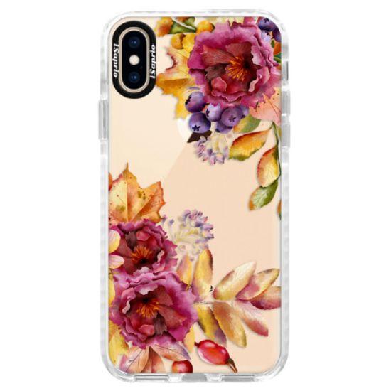 iSaprio Silikónové puzdro s bumperom - Fall Flowers pre Apple iPhone Xs