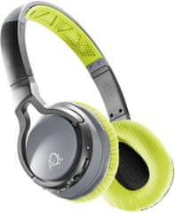 CellularLine Bezdrátová sluchátka CHALLENGE s pratelnými náušníky, žlutá, BTHEADBCHALLENGEL