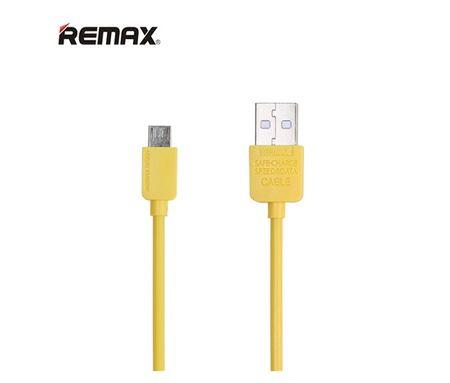 REMAX Datový kabel s micro USB konektorem, délka 1 m – žlutý, AA-1110