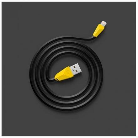 REMAX Datový kabel ALIEN, micro USB, 1m dlouhý, barva černožlutá AA-1137