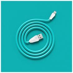 REMAX Datový kabel ALIEN, micro USB, 1m dlouhý, barva bílomodrá AA-1138