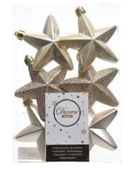 """Kaemingk Set 6 ks vianočných ozdôb """"Hviezda"""", 7,5 cm, perleťová, plast"""