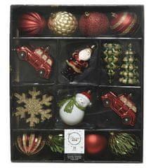 """Kaemingk 25 darabos karácsonyfadísz szett """"MIXBOX"""", műanyag"""