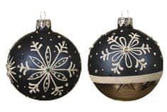 """Kaemingk Set 6 ks vianočných ozdôb """"Snehová vločka"""", sklenené, lesk/mat"""