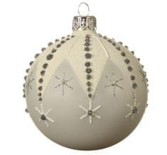 """Kaemingk Set 6 ks vianočných ozdôb """"Hviezdička"""", sklenené, matné"""