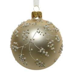 """Kaemingk Set 6 ks vianočných ozdôb """"Vetvička"""", sklenené, matné"""