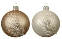 """Kaemingk Set 6 ks vianočných ozdôb """"Páperie"""", sklenené, matné"""