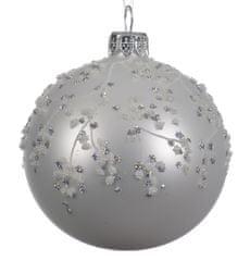 """Kaemingk Set 6 ks vianočných ozdôb """"Glittery"""", sklenené, matné"""