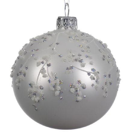 """Kaemingk 6 darabos karácsonyi dísz szett """"Flitterek"""", üveg, matt"""
