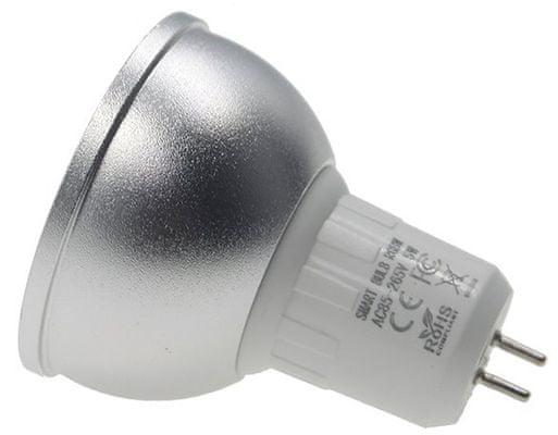 Chytrá LED žárovka IQ-Tech SmartLife MR16, nastavitelný jas, nastavitelná a barva světla