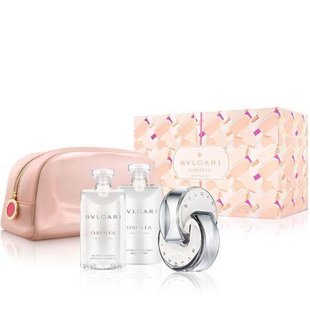 Bvlgari Omnia Crystalline - EDT 65 ml + tusfürdő 75 ml + testápoló 75 ml + kozmetikai táska