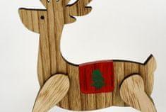 DUE ESSE Ozdoba drewniany bujany renifer 22 cm