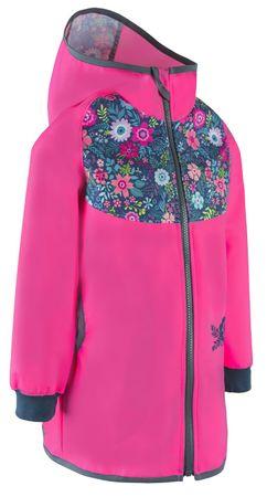 Unuo dievčenský softshellový kabát STREET 104 - 110 ružová