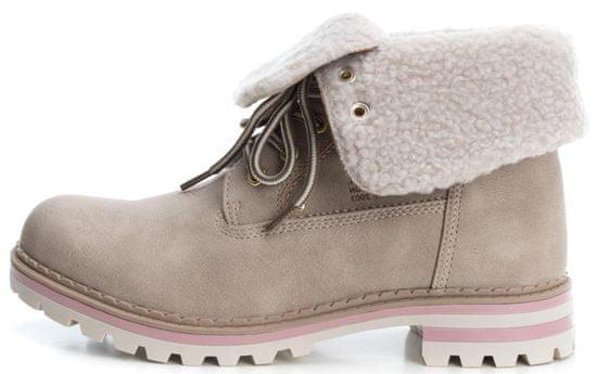 XTI dámska členková obuv 36 béžová