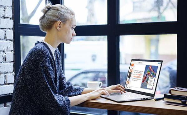 Notebook Asus X509FB 15,6 palce citlivý touchpad pohodlný zdvih klávesnice